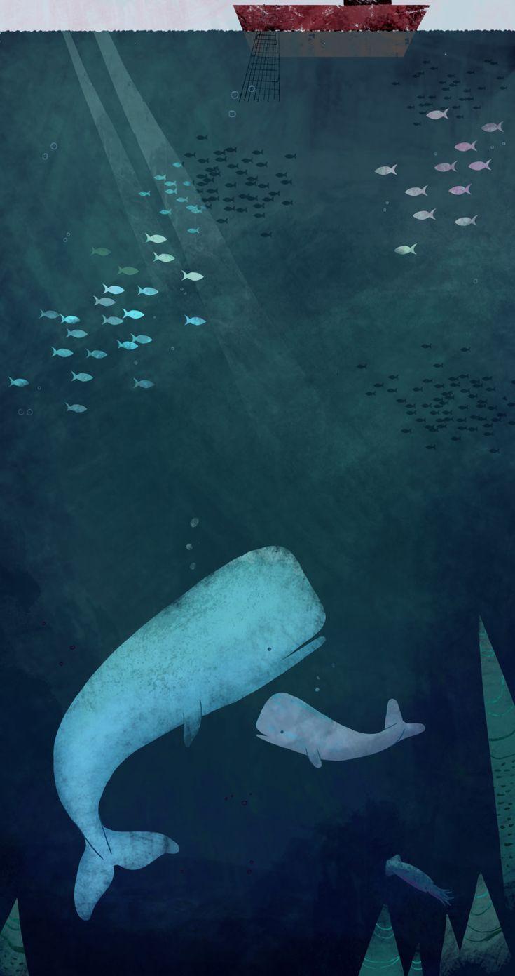 Oceanic Mammals: Whales illustration, Suzie Mason on ArtStation at https://www.artstation.com/artwork/Bwxmm