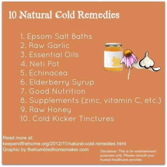 10 natural cold remedies