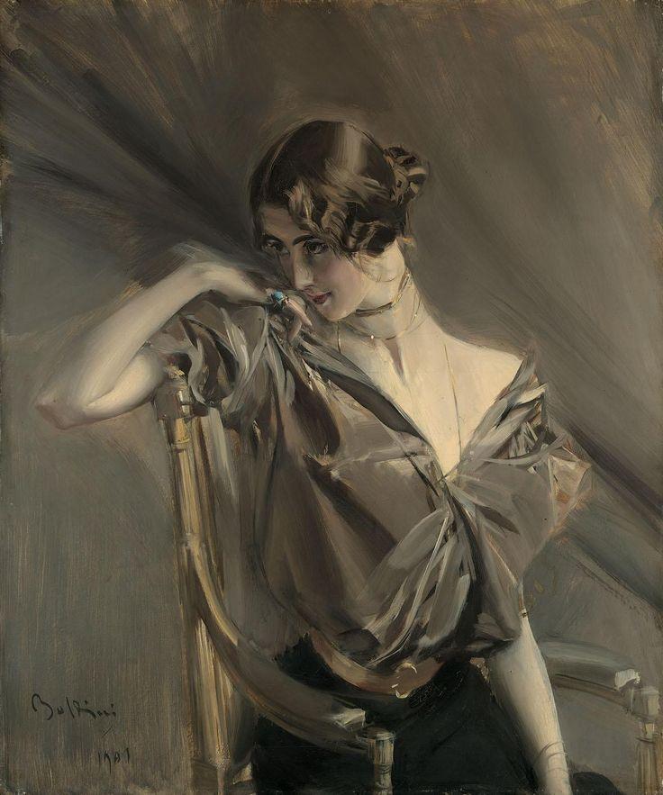 Giovanni Boldini,  Cléo de Mérode, 1901,  olio su tela, collezione privata.