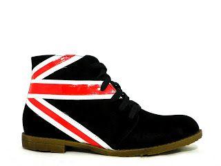 Hippekoopjes Webshop: Veterschoen met engels/britse vlag