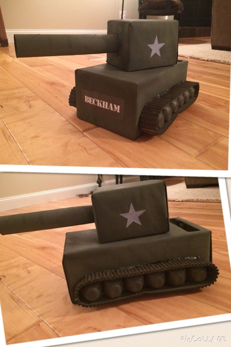 Army tank Valentine box with moving turret.  #tank #military
