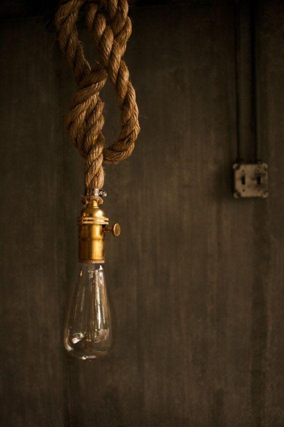 Chandelier Lighting Industrial Light Hanging Light by LukeLampCo $98