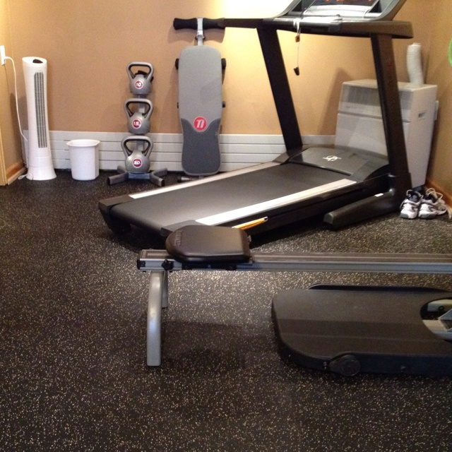 Exercise Room I Put A Rubber Floor In