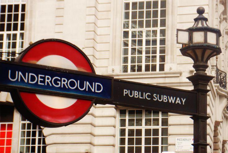 underground london < 3 one of my favorite cities