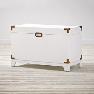 Campaign Toy Box (White). Modern Toy BoxesToy Storage ...