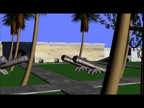 Animasi 3D Benteng Marlborough