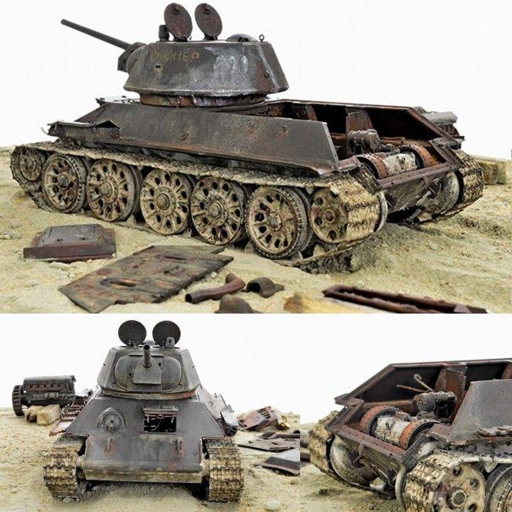 Т-34/76  scale: 1:35  Modeler: Gennady Zavrazhnev (Ученик)  From: diorama.ru  #tank #tanque #udk #usinadoskits #guerra #war #desgaste #weathering #ferrugem #soviético #dio #diorama #dioramas #scale #scalemodel #modelscale #escala #hobby #soviet