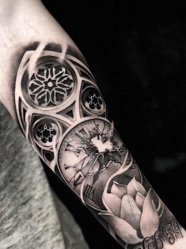 35 Of The Best Architecture Tattoos Or How To Have Your World On A Sleeve Kickass Things Sleeve Tattoos Filigree Tattoo Cool Chest Tattoos