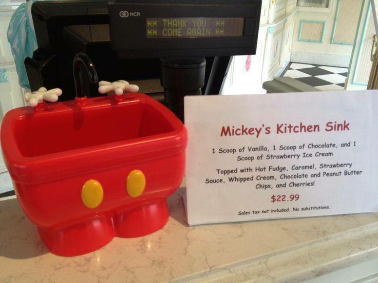 Walt Disney World Mickey S Kitchen Sink Sundae ♡ Disney