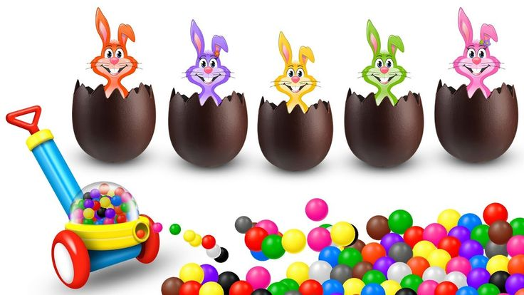 Easter Bunny Surprise Eggs Finger Family Rhyme | Finger Family Songs