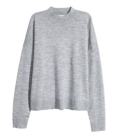 Pullover aus Merinowolle | Grau | Damen | H&M DE