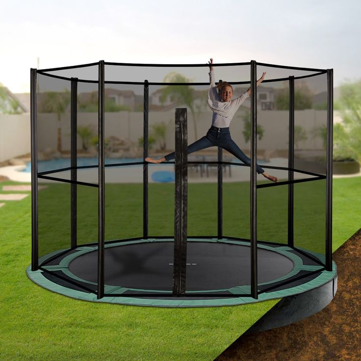 Keep your backyard looking stylish whilst letting the kids have fun on an Oz Trampolines inground trampoline. Available in a variety of shapes and sizes, with half or full enclosures; they are the perfect, safe backyard accessory. #oztrampolines #trampolines #inground #backyard #play #outdoor #safety #safeplay #fitkids