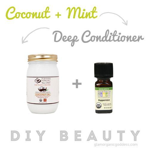 DIY Beauty | Organic Coconut + Mint Deep Conditioner