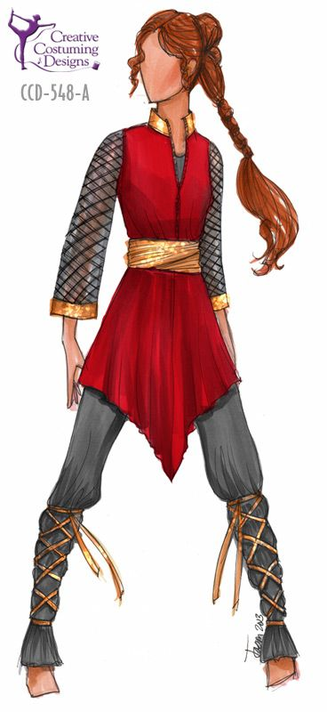 I really like the tunic/belt combo and the laced leggings but I don't have enough hair to pull off that braid :P