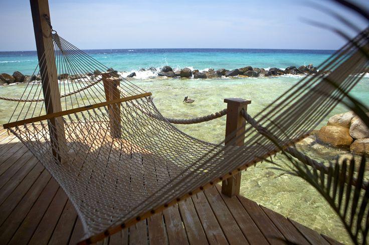 Vanuit een hangmat heerlijk genieten van de huwelijksreis op het prachtig Aruba!