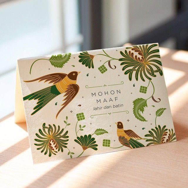 Selamat Hari Raya Idul Fitri!  Mohon maaf lahir dan batin from KYUB team! - Card design inspired from batik pattern by @kyubstudio  #kyubdesign #batik #greetingcard #pattern #idulfitri #eidmubarak