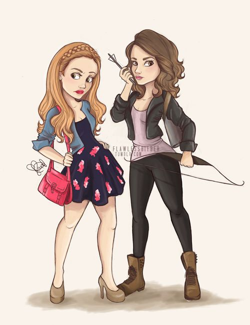 allison argent and lydia martin - teen wolf