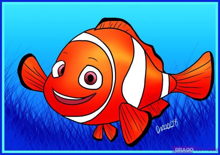 How to Draw Nemo from Finding Nemo, Step by Step, Disney Characters, Cartoons, Draw Cartoon Characters, FREE Online Drawing Tutorial, Added by Dawn, January 27, 2009, 6:59:00 am