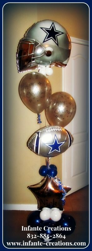 Dallas Cowboys Personalized Birthday Bouquet