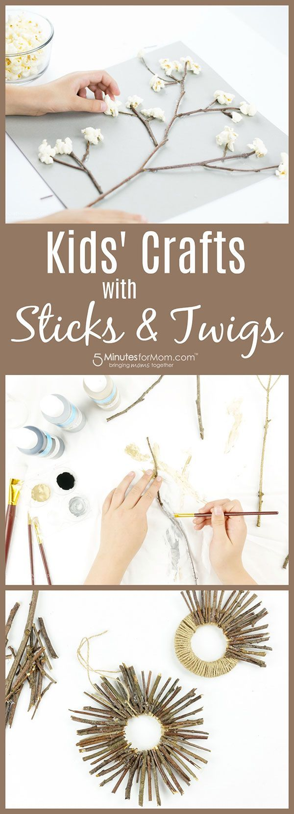 Kids Crafts with Sticks and Twigs