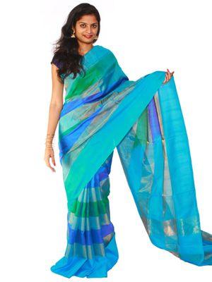 Uppada Saree plain strips design  #Uppada #Sarees