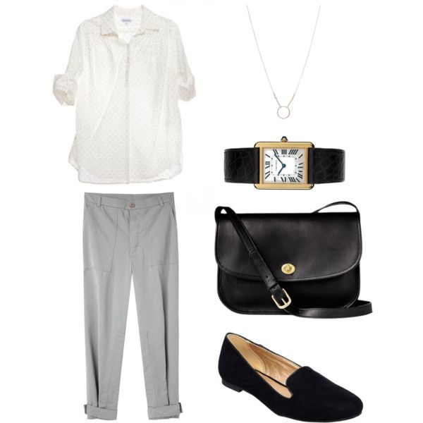 Untitled #123 by stractstyle on Polyvore featuring Steven Alan, Band of Outsiders, Head Over Heels by Dune, Cartier and Dogeared