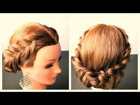 Holiday Braided Hairstyle,  Hairstyle Ideas For Long, Medium Hair -  Braided hairstyle for holidays,prom,wedding,or as a casual hairstyle,for medium, long hair.I wish you all a very  Happy Christmas my friends!!! Hope you like it, thumbs up if you do, thanx for watching. Thumbs up for more easy and fun videos, don't forget to subscribe for my latest  hairstyle video tutorials^_^ Music Bet on it-Silent Partner- youtube audio library free music I upload hairstyle tutorial