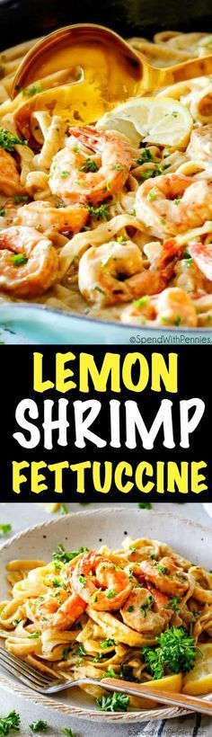Wonderfully creamy, indulgent Lemon Garlic Shrimp Fettuccine is bursting with flavor and on your table in 20 minutes! It is the easiest, most satisfying meal that tastes totally gourmet!