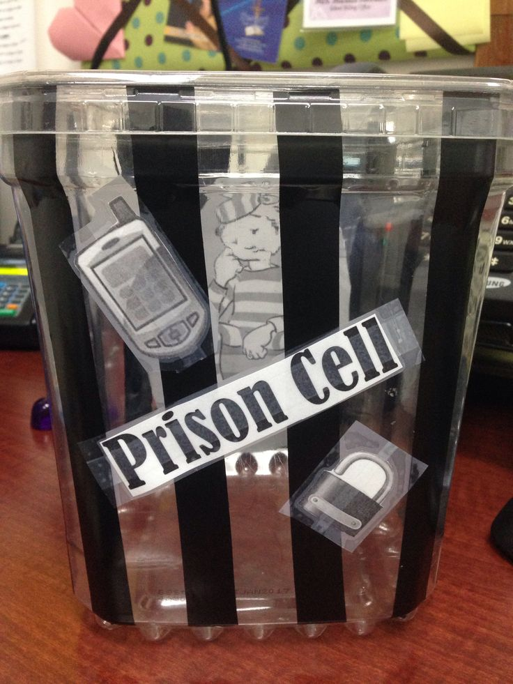 Teachers cell phone prison bucket for quizzes and tests!!