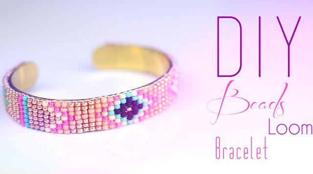 DIY - Tutoriel : Bracelet en perles tissé Navajo et Azteque fabriqué avec un métier à tisser   DIY   Do it yourself   By Isnata