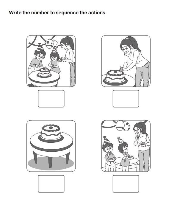 Picture Sequence worksheets - kindergarten esl-efl
