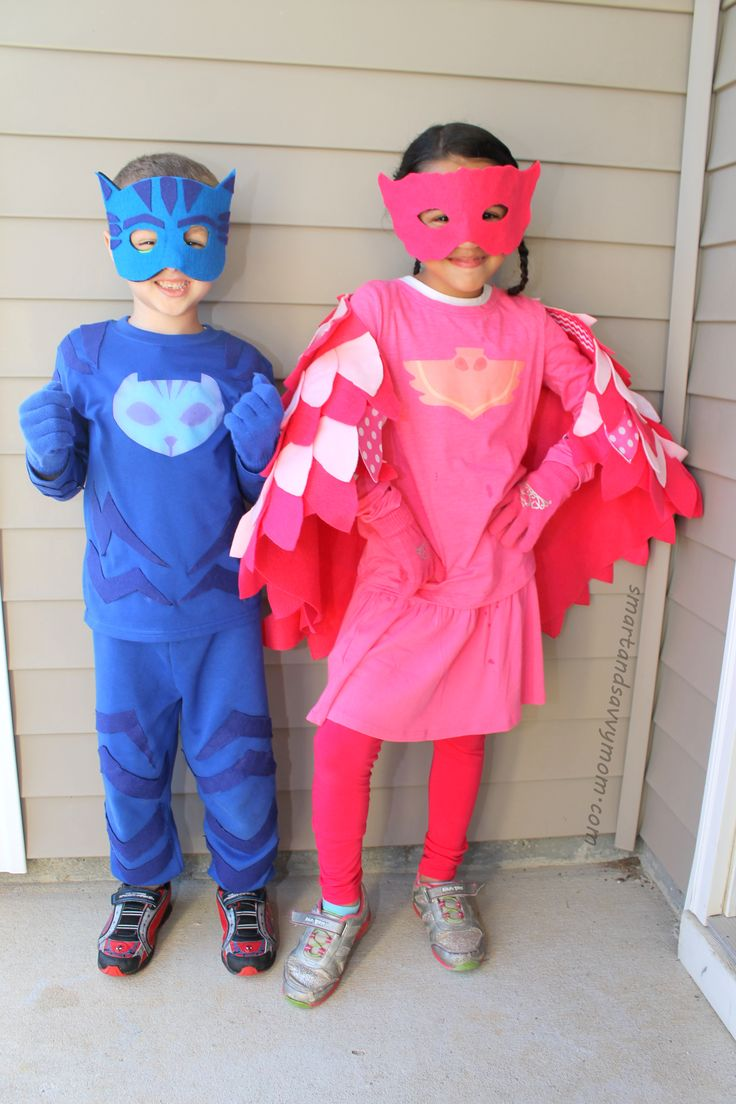 7 best how to do it yourself no sew owlet costume from disneys pj diy pj masks costume no sewing how to catboy and owlet solutioingenieria Image collections