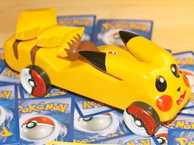 pokemon pinewood derby cars