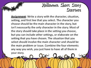 the best halloween short stories ideas kids  halloween short story starters task cards ccss for grades 5 12