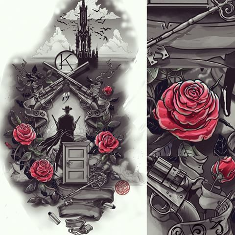 best 20 dark tower tattoo ideas on pinterest. Black Bedroom Furniture Sets. Home Design Ideas