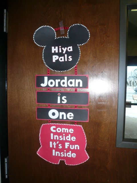 """Photo 26 of 55: Mickey and Minnie Mouse / Birthday """"Baby J's 1st Birthday"""" 
