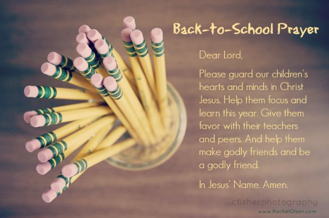Back to School Prayer - Christ Covenant Church
