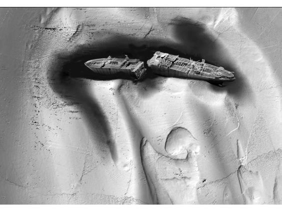SS Richard Montgomery - recent underwater image