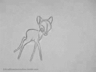 2dtraditionalanimation:  Bambi - Milt Kahl  Jesus, Milt.