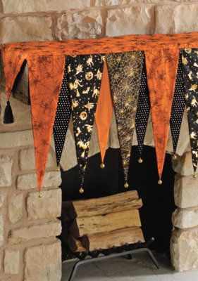Slip our Bewitching Halloween Mantel Scarf over your mantel, then top with your own favorite pieces to create a Halloween spectacle they'll never forget.