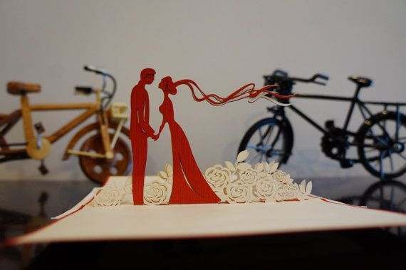 Wedding or Anniversary Pop Up 3D Card. #3dcards #cards #heartshaped #Love www.3dcards.com.au