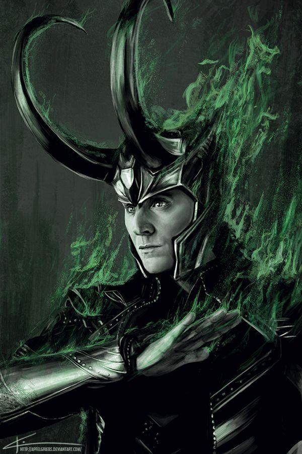Loki Fan Art By http://apfelgriebs.deviantart.com/art/Loki-Architect-of-Ragnarok-438370872