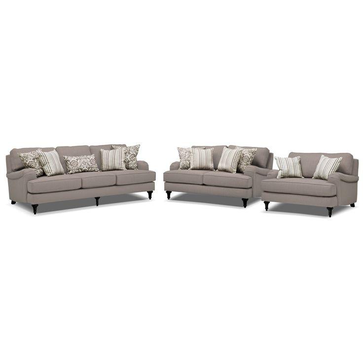 Candice 3 Pc. Living Room | American Signature Furniture