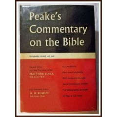 Peake's Commentary on the Bible. Hardcover 1962. View pictures for condition.