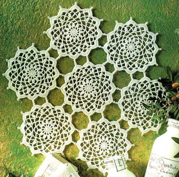 PDF Vintage 'Scrollwork' Valentine Perfume Doily Crochet Pattern, Heirloom, Pretty, Intricate, Keepsakex