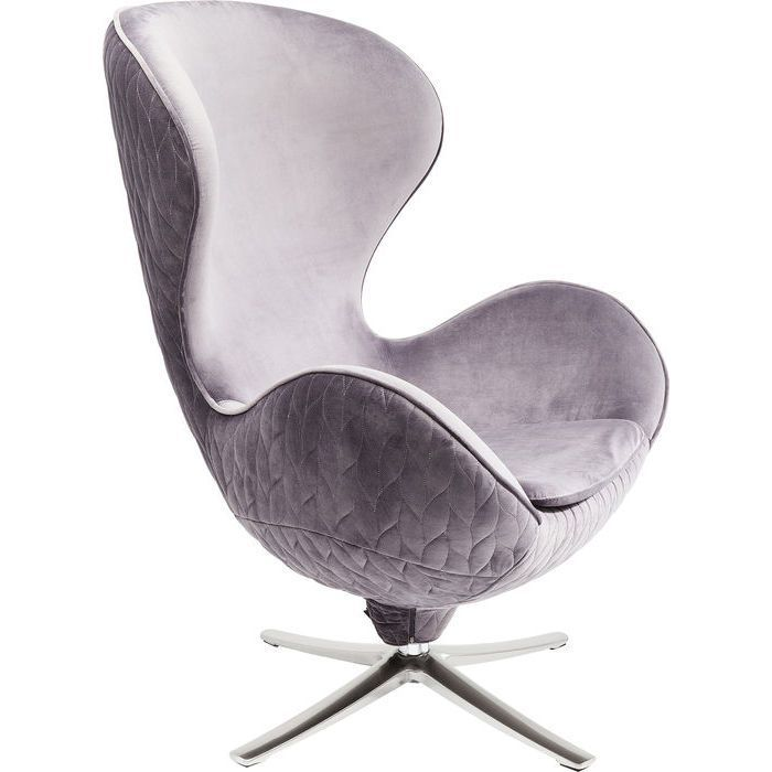 Egg Chair Replica Kopen.Leaf Grey Swivel Lounge Chair In 2020 Upholstered Swivel Chairs