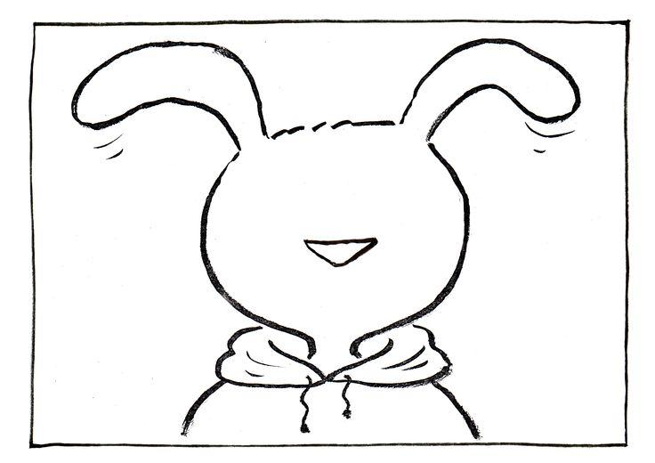 leeg gezicht haas | Gertie Jaquet is de illustrator van Haas. Zij laat Haas bang…