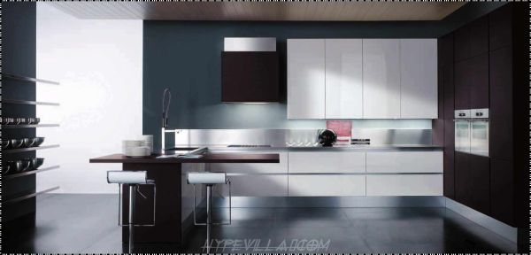 Modern Cabinet Kitchen from Small Kitchen Design Ideas for Aiming Pamper Your Wife 600x288 Small Kitchen Design Ideas for Aiming Pamper Your Wife