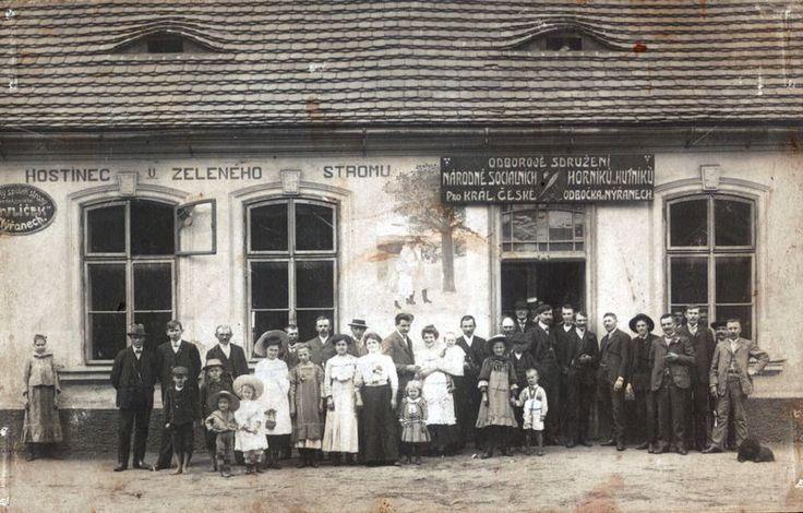 1912, Nýřany, Hospoda U zeleného stromu. zdroj: nyrany.cz