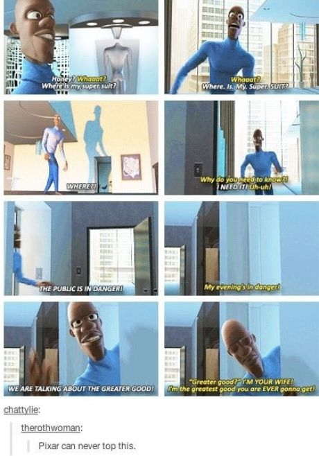 Lets not forget Ironman 3 stole its plot from Incredibles. Even includes black friend with super suit.